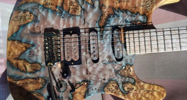 Thorn Guitars Pirate Map