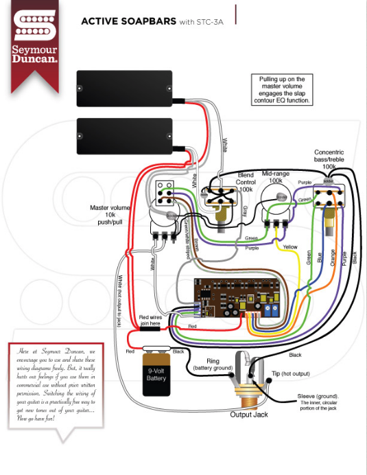 seymour duncan pickup wiring diagrams  wired guitarist